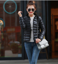 free Shipping 2015 new winter coat girl slim size long sleeved cotton feather collar warm temperament