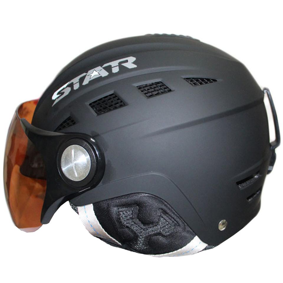 Half-covered CE Certification Ski Helmet Integrally-molded Outdoor Sports Goggles Skiing Helmet Snowboard Skateboard Helmet(China (Mainland))