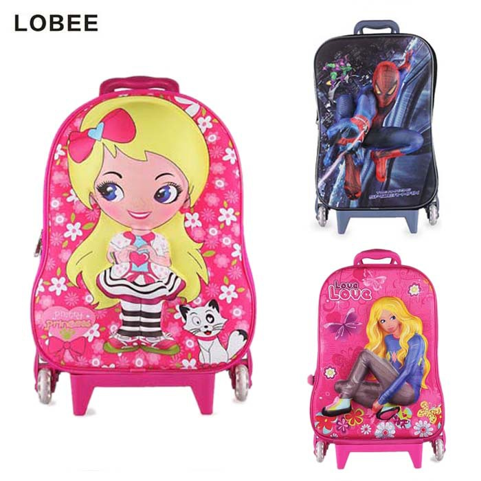 2015 Character Wheeled Bag Eva 3D Trolley School Children Rodinha Spiderman Mochila com Rodinhas Escolar Infantil W222 - My Style Fashion Store store