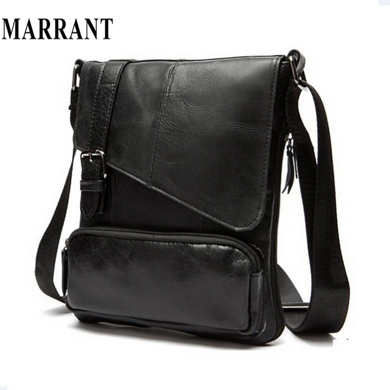 100 Guarantee the first layer of cow leather men messenger bag small single shoulder bag genuine
