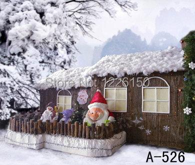 Free digital christmas Snow scenic photo backdrops ,vinyl Wedding Photo Backdrops A-526,10x20ft photography background christmas