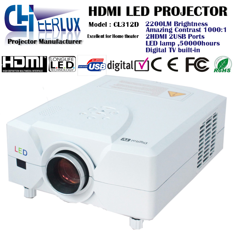 Upgrade high quality led lcd projector / beamer / proyector/ projektor support 3d movies 1080p 720p for home cinema system game(China (Mainland))