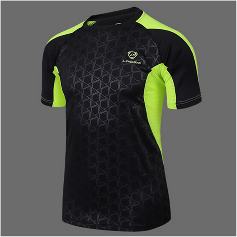 LS Brand 2017 new men Tennis shirts Outdoor sports O-neck clothing Running badminton apparel basketball Short t-shirt tops tees(China (Mainland))