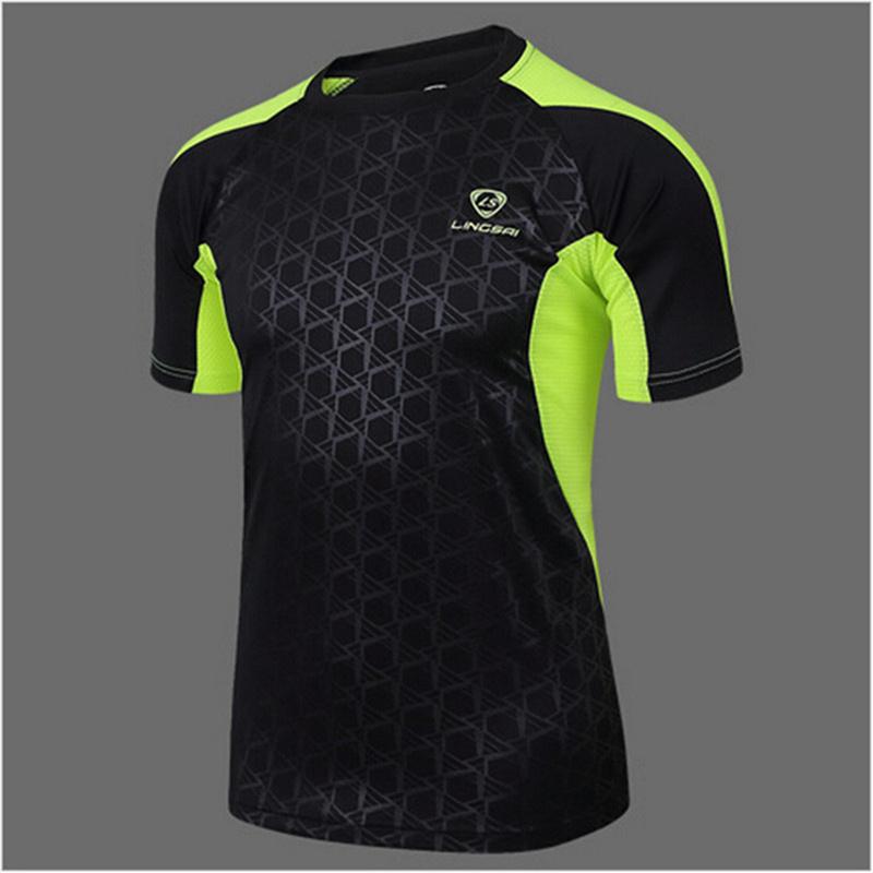 LS Brand 2017 new men Tennis shirts Outdoor sports O-neck clothing Running badminton apparel basketball Short t-shirt tops tees(China (Mainland))