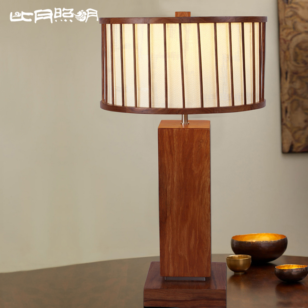 Mid type fixture in the bedroom than the living room wood for Living room table lamps