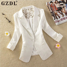 2015 New 5 Colors Women Blazer Elegant Spring Autumn Candy One Button Crochet Lace Ladies Suit Jacket Blazer Coat Clothing 1709(China (Mainland))