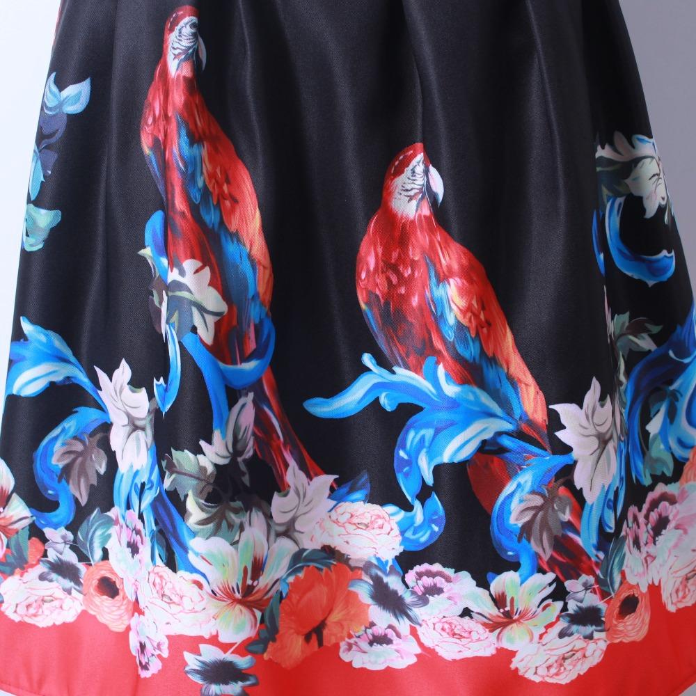 HTB1mxquQFXXXXbcXFXXq6xXFXXXL - GOKIC 2017 Summer Women Vintage Retro Satin Floral Pleated Skirts Audrey Hepburn Style High Waist A-Line tutu Midi Skirt