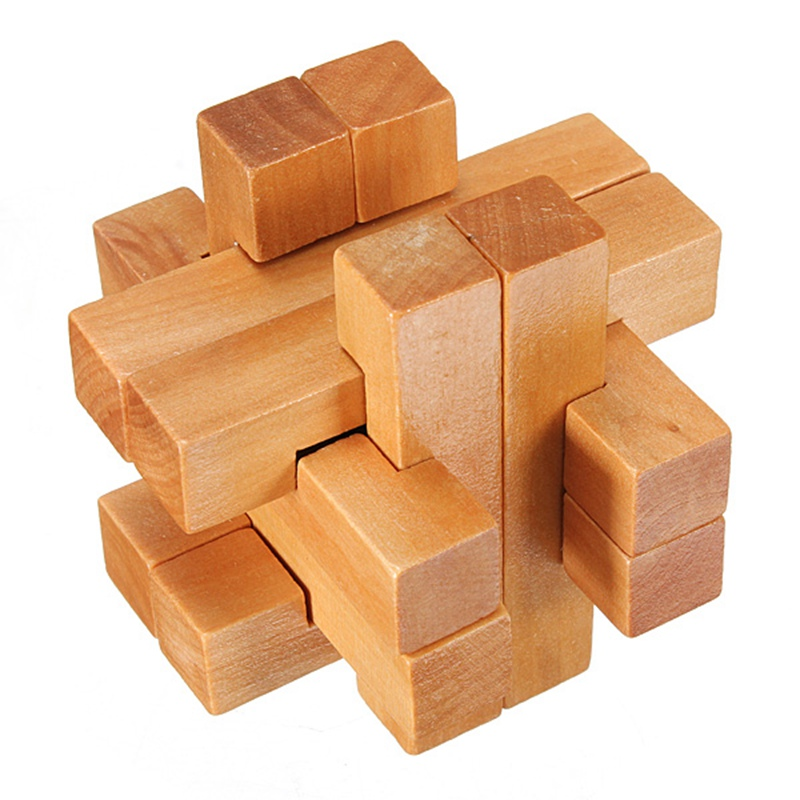 Wooden Brain Teaser Puzzle Model Building Kits Learning & Education Toys Vintage 3D YX835 Wooden Brain Teaser Puzzle Game Toys(China (Mainland))