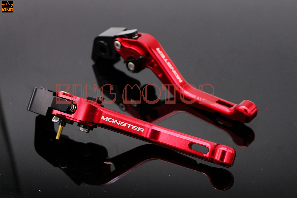 New Motorcycle Accessories Short Brake Clutch Levers For DUCATI Monster 1100/S/EVO 2009-2013 Red<br><br>Aliexpress