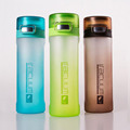 500ml Outdoor Sport Plastic Water Bottle Foods Grads 3 Color Portable Adults Space Cup With Rope