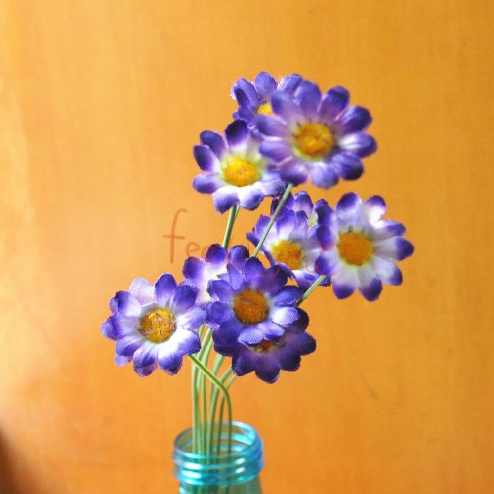 0 x dark purple sunflower artificial silk flower heads for Flower heads for crafts