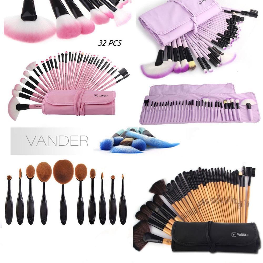 Vander Professional 32 Pcs Cosmetic Makeup Make-Up Brushes Set Face&eye Powder Foundation Beauty Toiletry Tools Kits Pink/Black(China (Mainland))