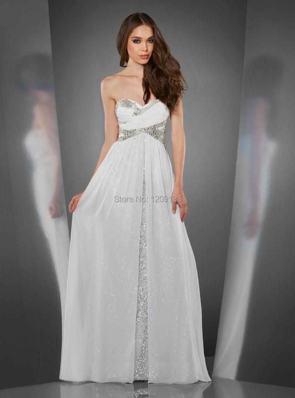 Vestidos blancos largos de fiesta
