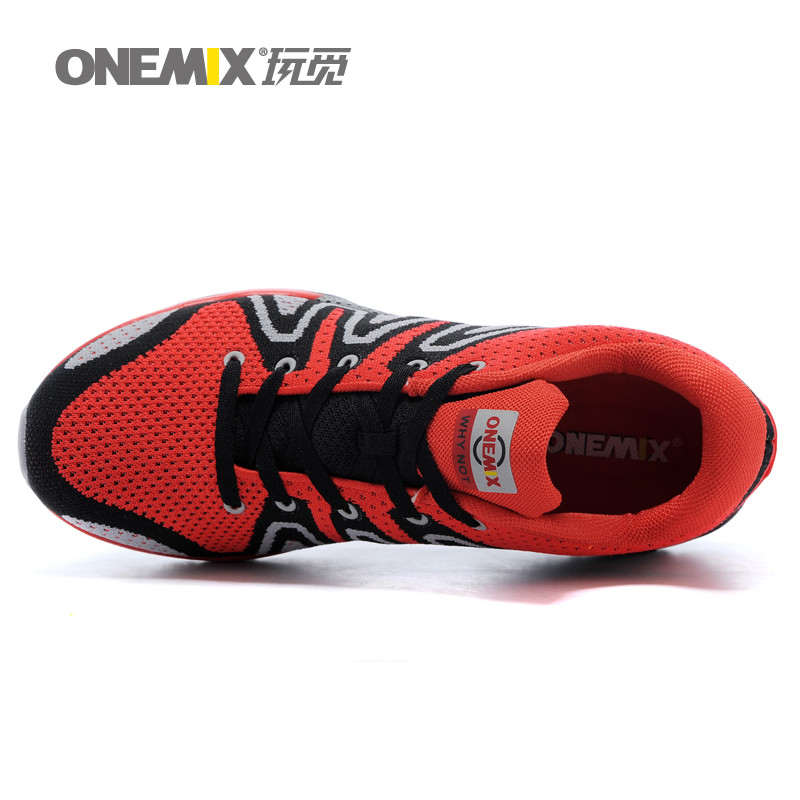 ONEMIX Man Running Shoes for men Run Nice Woven Athletic Trainers Green Zapatillas Sports Shoe Light Outdoor Walking Sneakers 3