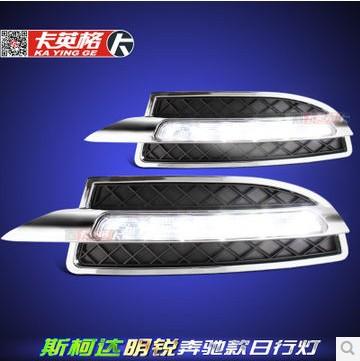 Free shipping 12V DRL LED Car light DRL Daytime Running Lights Skoda Octavia 2010-13 with fog light(China (Mainland))