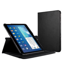 360 ratating for samsung galaxy tab 4 10.1 Magnetic material smart leather case with sleep&awake cover sm-T530 T531 T535 case