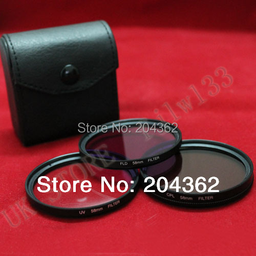 100 % Guarantee  tracking number  filter kit   67mm UV FLD CPL BAG Filter Set Polfilter for Nikon P500 P510