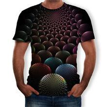 Летний больших размеров, мужские топы, модные футболки с 3D принтом, мужские футболки с коротким рукавом и круглым вырезом, большие размеры 5XL...(China)