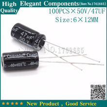 Buy 100PCS 50V 47UF 47UF 50V Electrolytic Capacitor 50 V / 47 UF Size 6*12MM Aluminum Electrolytic Capacitor for $2.78 in AliExpress store