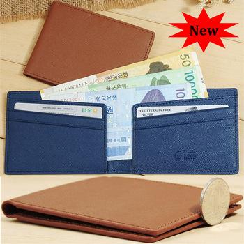 Оригинальность ультра-дешевый тонкий Мини кошельки корейский зажим для банкнот тёмно-синий ...