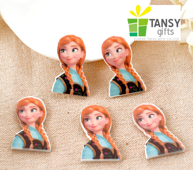 FBRS0524 Character single style cute gilr cartoon resin flat back planar resin for DIY children decoration accessories center()