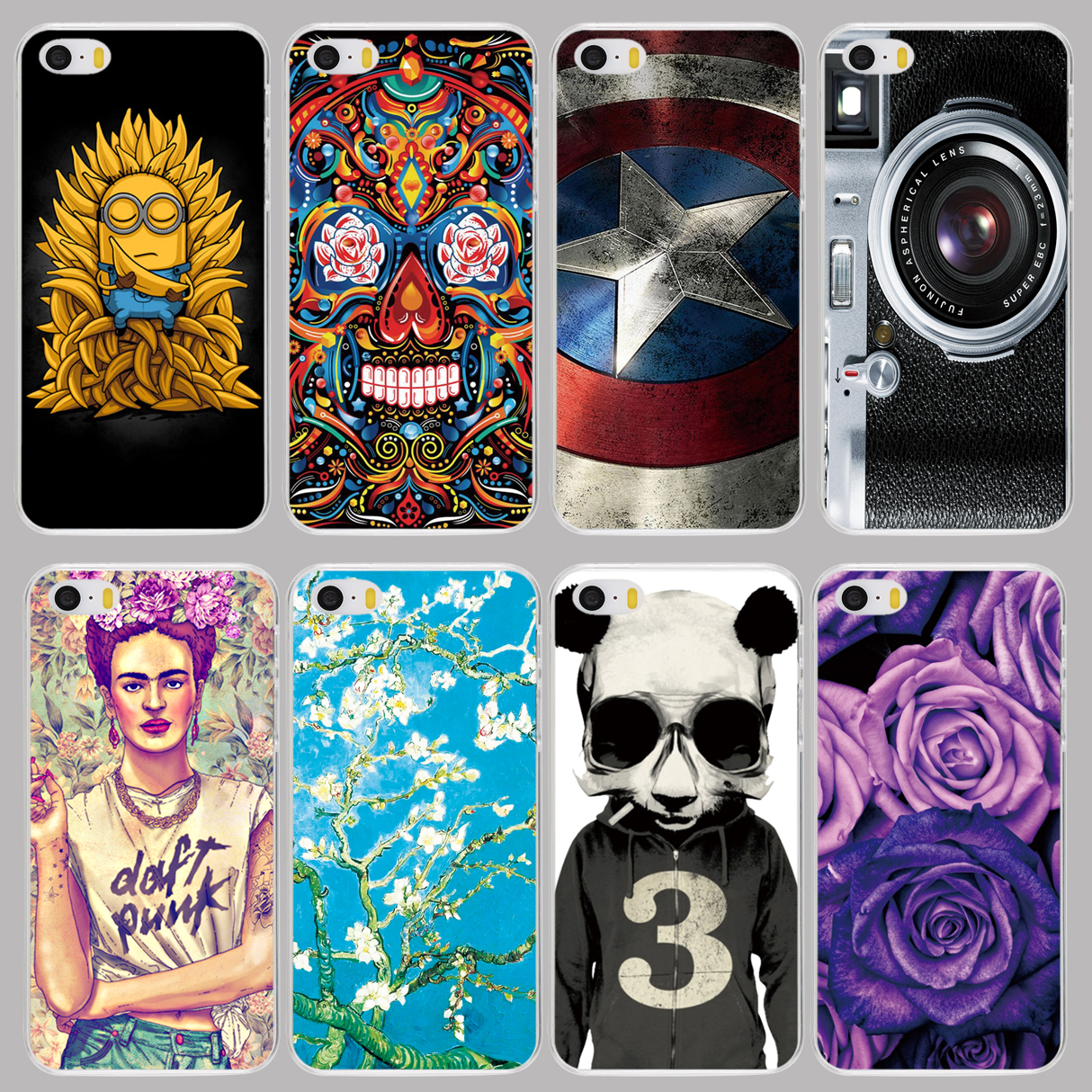 cell phone Cover Case for huawei honor 3C 4A 4X 4C 5X 6 7 GR5 Y6 V8 8 panda flower skull camera sheild cat tiger sexy girl(China (Mainland))