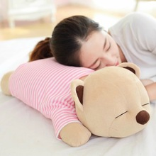 28 inches Lie prone on the BEAR with T-shirts cartoon plush toys creative music pillow doll Birthday Valentine LOVE gift