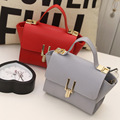 2016 fashion woman Handbags new PU leather embossed solid color bat bag shoulder bag ladies Messenger