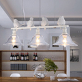 Modern Home Decoration 3 Head Bird Light Dining Room Pendant Light Glass Iron Light Bar Light