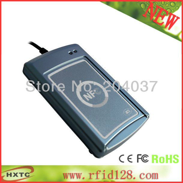 WholeSale RFID Contactless RS232 NFC Smart IC Card/tag Reader Writer(Lecteur/Krtenleser) ACS ACR122S 13.56MHZ  Free Shipping<br><br>Aliexpress