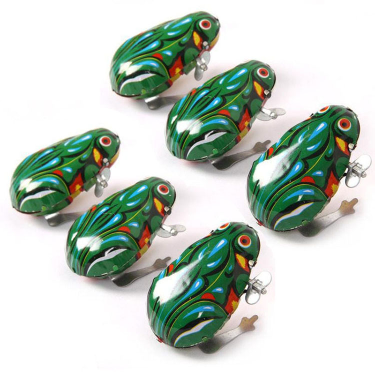 Kids Classic Tin Wind Up Clockwork Toys Jumping Frog Vintage Toy For Children Boys Educational Free Shipping(China (Mainland))