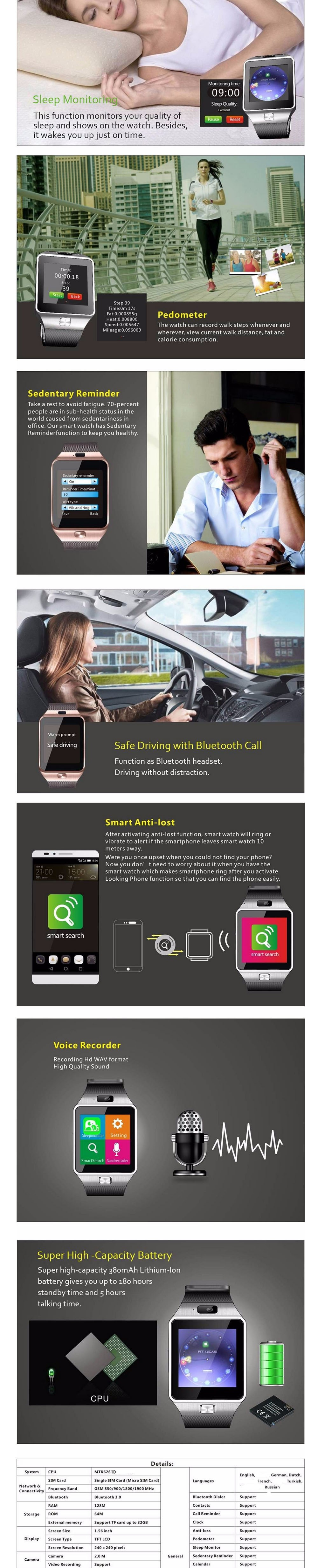 Newest Bluetooth Smartwatch NK01 Smart Watch for iPhone 4/4S/5/5S Samsung S4/Note 3 HTC Android Phone Smartphones