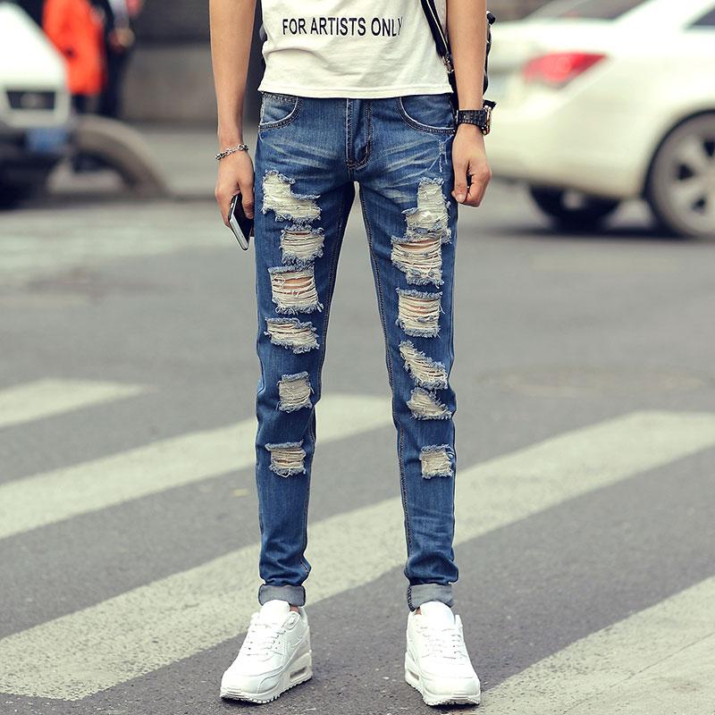 Hombres Pantalones Los Verano Los 2016 Primavera de C3 A9n Y Hombres Llegado de Pies Delgados de Reci xqqnfOTwB