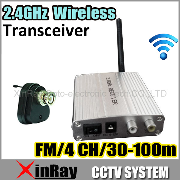 Free Shipping 2.4GHz 4 Channel 1/3 inch CMOS Wireless CCTV Color Security Camera Receiver 380TV Lines<br><br>Aliexpress