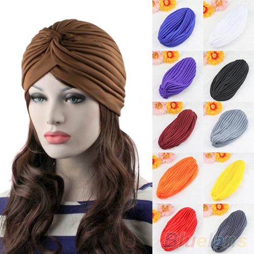 Новинка унисекс последний тип растягиваемые тюрбан шляпа головные уборы обертывание ...