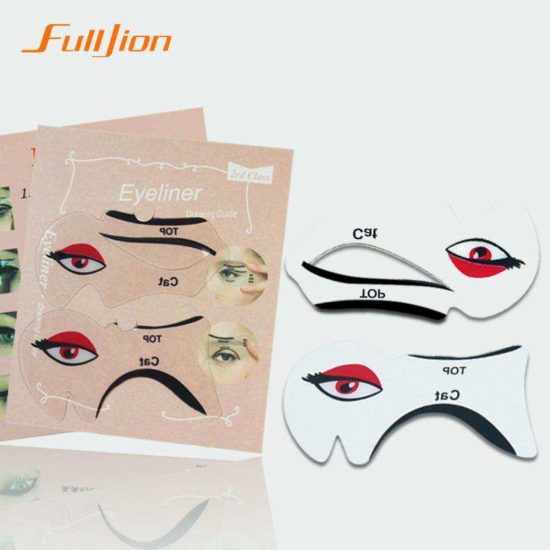 Cat eye makeup stencil