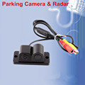 2 in 1 Automobile Car Electronics Parking Sensors Black Sensors Reversing Radar Car Rear View Camera