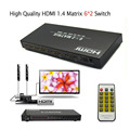New 6X2 port HDMI 1 4 Matrix adapter 6 In 2 Out HDMI Switch Splitter supports