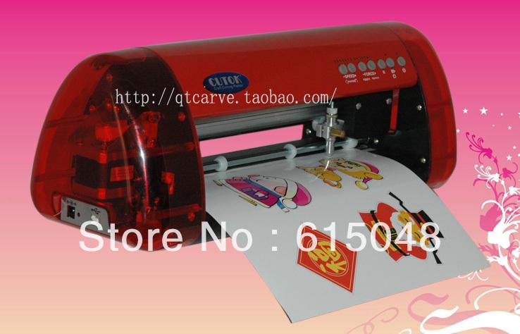 CUTOK Laser positioning thermal transfer cutting machine label - Jinan qi teng advertising equipment store
