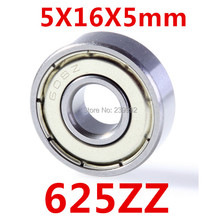 Free Shipping 625 625ZZ 5X16X5 625Z Miniatura Deep Groove Ball Bearing(China (Mainland))