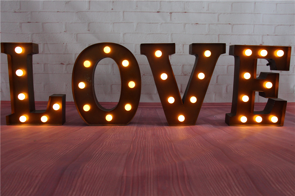 9inch metal letters led marquee sign light up vintage signs light