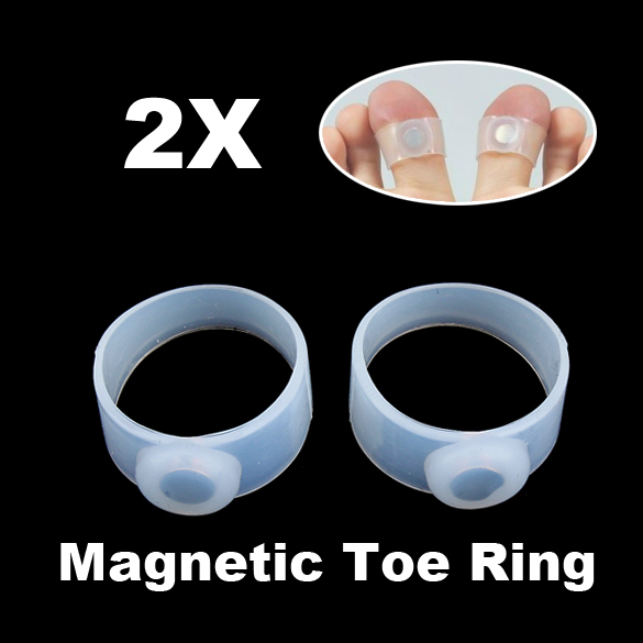 Foot Care Tool 2 Pieces Slimming Weight Loss Keep Fit Magnetic Toe Ring 1100 Gauss Health