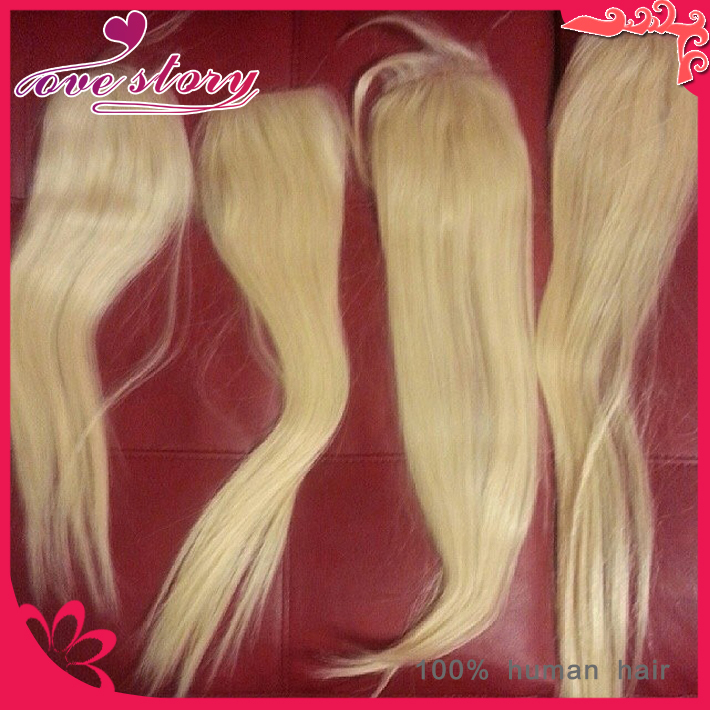 Color 613 4*4inch silky straight blonde closure unprocessed human hair closure swiss lace top closures piece <br><br>Aliexpress
