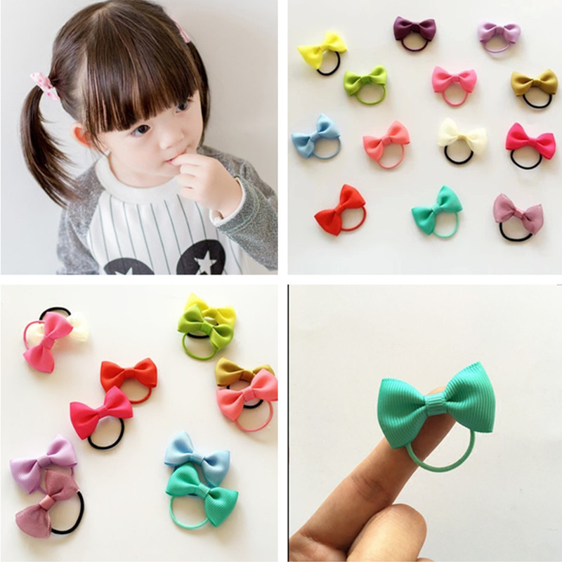 Mini Baby Bow Rubber Band Head Flower Hair Rope Handmade Hair Band Not to Hurt The Hair Band Hair Accessories Wholesale(China (Mainland))