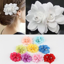 Fashion Hair Accessories Multi-colored Flowers Shaped Simulated Pearl  Woman Hairpin 9 Colors Headwear-0040(China (Mainland))