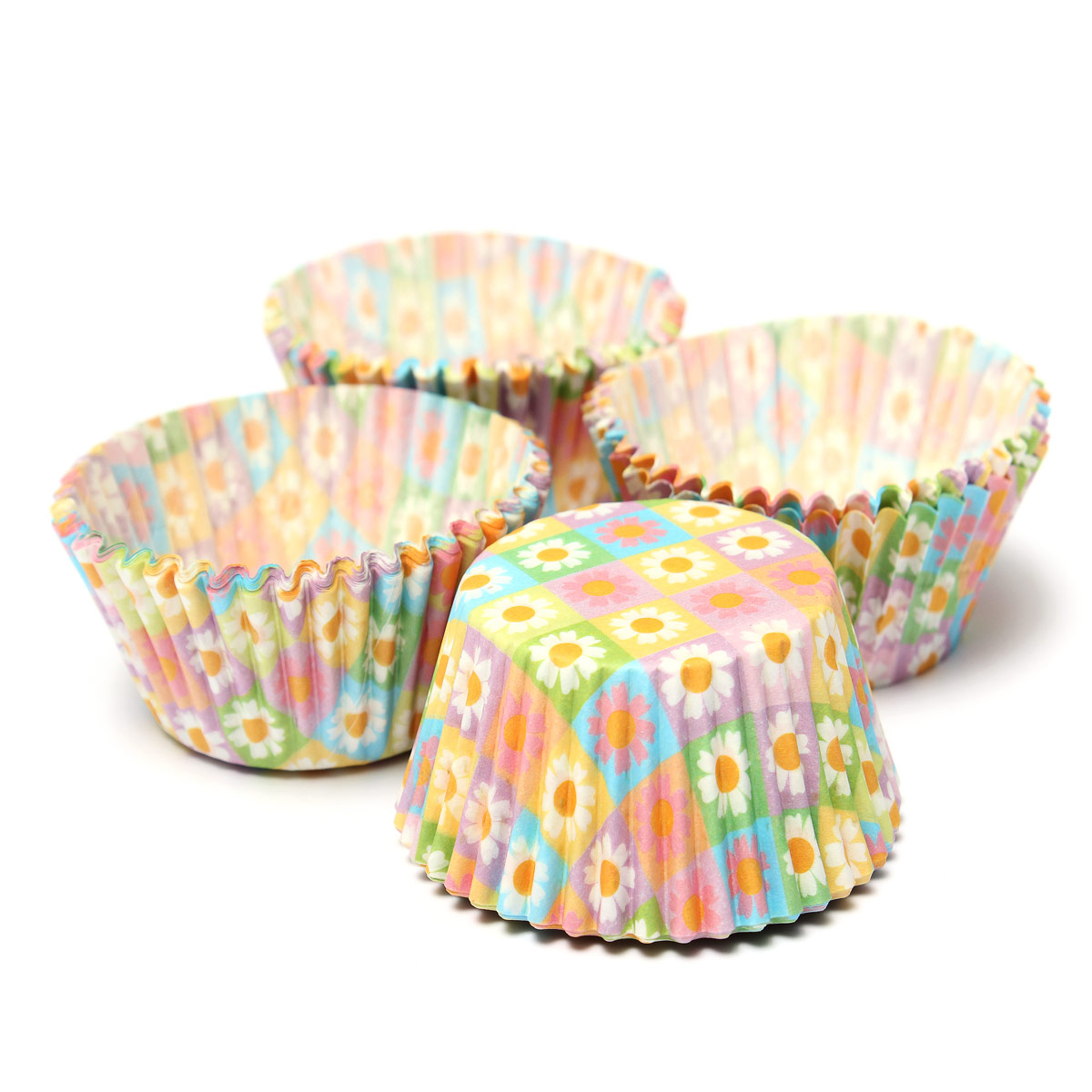 Colorful Flower Pattern Paper Cupcake Cake Muffin Cup Mold Cases Wedding Party Valentine Decor Stand Wrapper Toppers 100Pcs(China (Mainland))