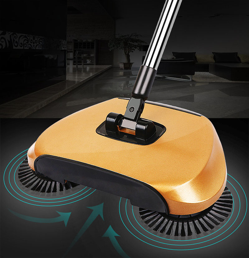 Magic Broom Sweeping Machine Without Electricity Push Type Household Broom Sweeper Dustpan Set Artifact Floor Home Cleaning(China (Mainland))