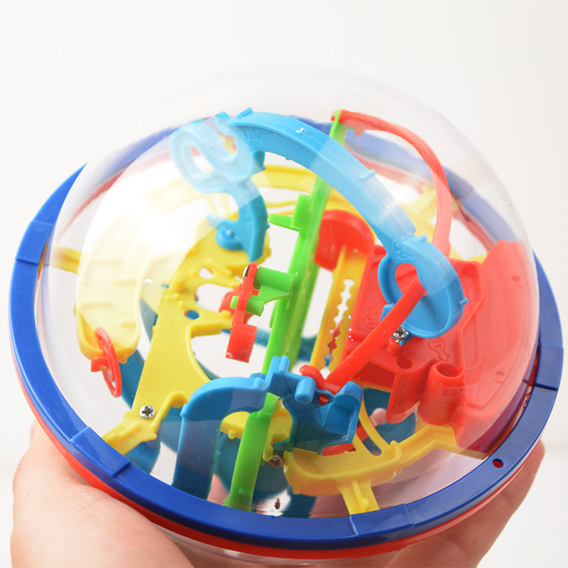 3D Magic Maze Ball 100 Levels Intellect Ball Rolling Ball Puzzle Game Brain Teaser Children Learning Educational Toys Orbit Game(China (Mainland))