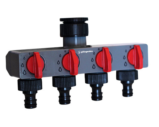 4 Way Water Distributor Tap Adapter ABS Plastic Connector Hose Splitters for Hose Tube Water Faucet#27208(China (Mainland))