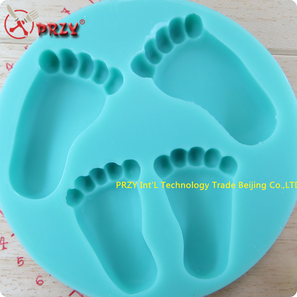Buy footprints shape new style large for Baby footprints cake decoration